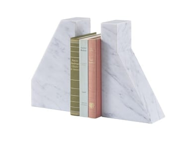 Carrara marble bookend LITHOS