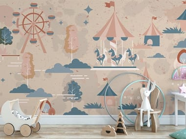 Nonwoven kids wallpaper LUNA PARK
