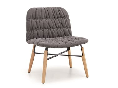 Upholstered fabric armchair LIÙ AT ML