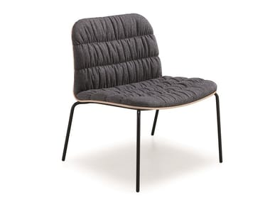Upholstered fabric armchair LIÙ AT MT