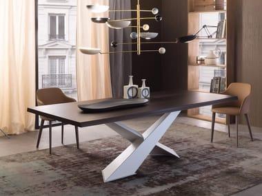 Tavolo da pranzo rettangolare in legno LIVING - BIANCO & ROVERE COKE