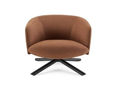 Swivel armchair with armrests LIVRE | Swivel armchair