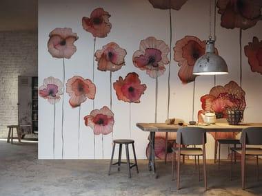 Papel de parede de fibra de vidro de flores LO SAI CHE