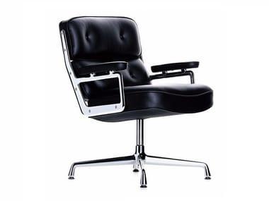 Cadeira de conferência giratória de pele com braços LOBBY CHAIR ES 108