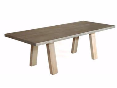 Rectangular zinc table LOCAL ZINK