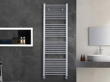 Vertical wall-mounted towel warmer LOGIC