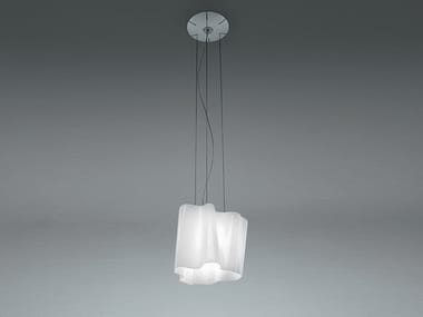 Direct light halogen blown glass pendant lamp LOGICO | Pendant lamp