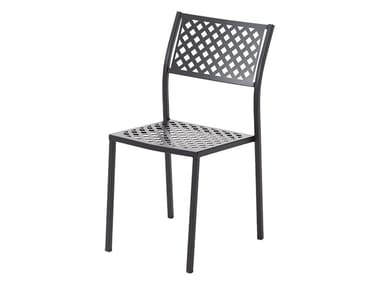 Stackable galvanized steel chair LOLA 1