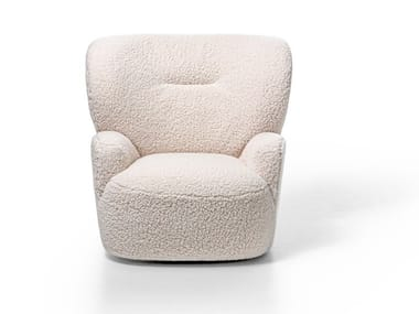 Fabric armchair with removable cover with armrests LOLL 09