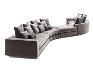 Sectional curved fabric sofa LOMAN SOFT | Curved sofa