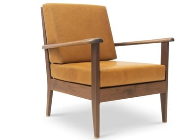 Fabric armchair with armrests LONDON CHAIR