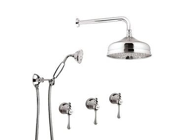 Shower set with overhead shower LONDRA - 7216W2KB