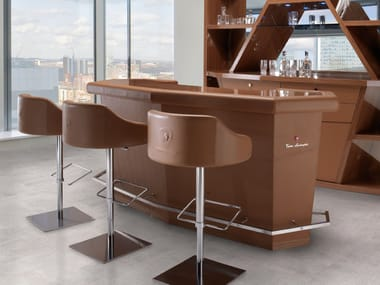 Leather bar counter LONG BEACH | Bar counter