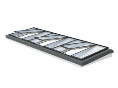 Glass and steel roof window LONGLIGHT 5-25°
