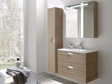 Laminate Bathroom Cabinet Vanity Unit Look