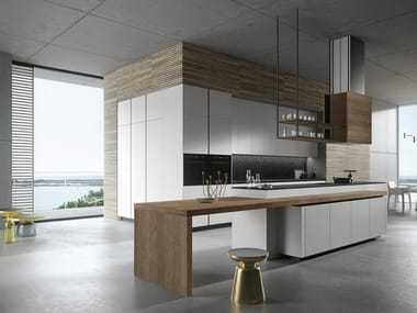 Wooden kitchen with island LOOK | Kitchen with island