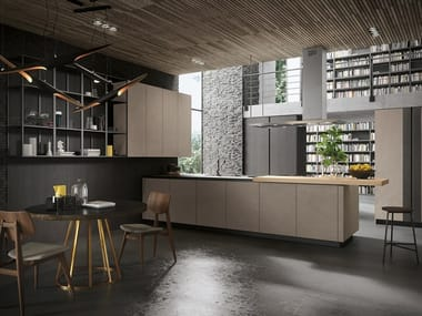 Wooden kitchen with peninsula LOOK | Wooden kitchen