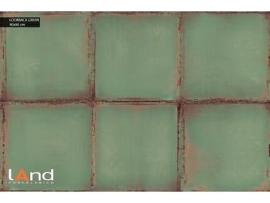 Technical porcelain wall/floor tiles with metal effect LOOKBACK GREEN