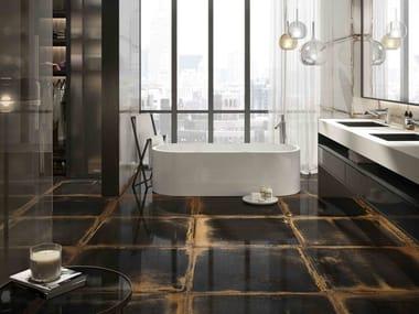 Technical porcelain wall/floor tiles with metal effect LOOKBACK