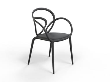 Stackable polypropylene chair with integrated cushion LOOP | Chair with integrated cushion