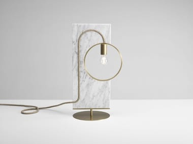 Direct light marble table lamp LOOP | Marble table lamp
