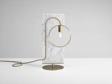 Lampada da tavolo a luce diretta in marmo LOOP | Lampada da tavolo in marmo