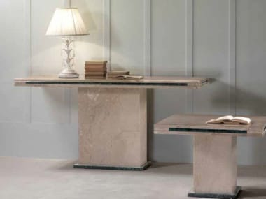 Rectangular marble console table LORENZO | Console table