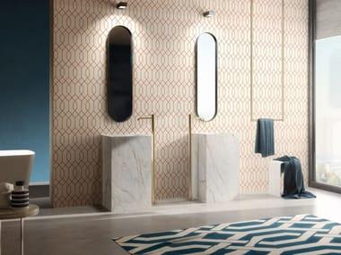 Indoor wooden wall tiles LOSANGA