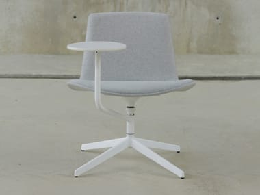 Fabric training chair with writing tablet LOTTUS NOTE | Fabric training chair