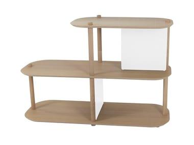 Modular wooden shelving unit LOU