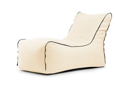 Diván de jardín tapizada de poliéster LOUNGE ZIP CAPRI | Chaise longue