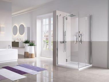 Box doccia angolare con porta a battente LOUVRE | A