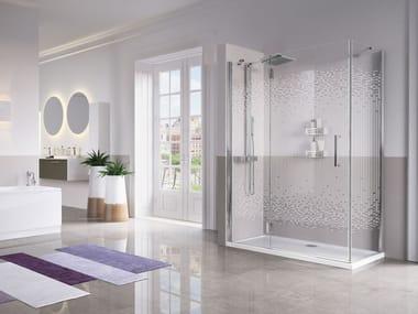 Box doccia angolare con porta a battente LOUVRE | G + F