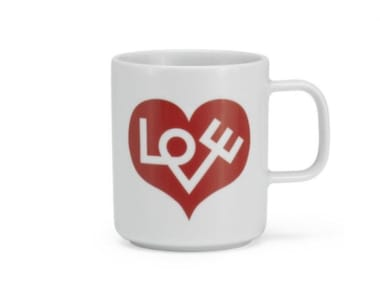 Teebecher aus Porzellan LOVE HEART CRIMSON
