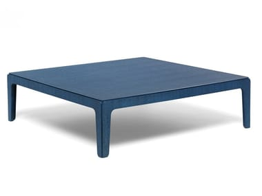 Low square eucalyptus coffee table WOOD | Low coffee table
