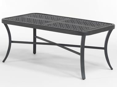 Tavolino da giardino rettangolare in alluminio CENTURIAN | Tavolino basso