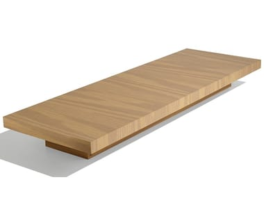Rectangular wood veneer coffee table LOW