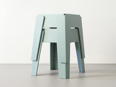 Low stackable stool BUTTER | Low stool