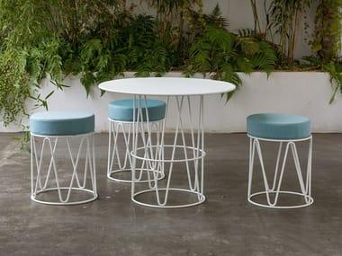 Low upholstered stool LAGARTO | Low stool