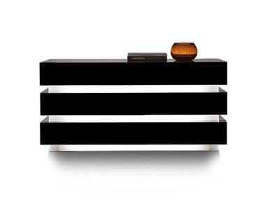 Cassettiera laccata in legno LUCE | Cassettiera