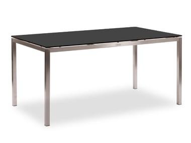 Tavolo da giardino rettangolare in HPL LUCERNE | Tavolo rettangolare