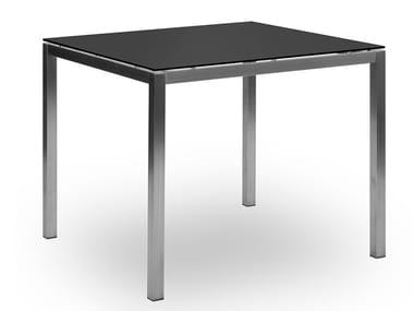 Tavolo da giardino quadrato in HPL LUCERNE | Tavolo quadrato