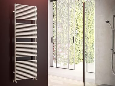 Wall-mounted vertical towel warmer LUCY 18
