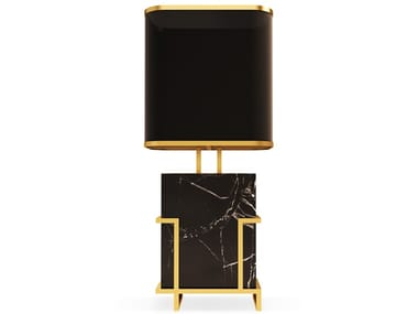 Nero Marquina marble table lamp LUDĚK