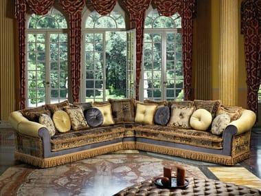Classic style corner fabric sofa LUDOVICA | Corner sofa