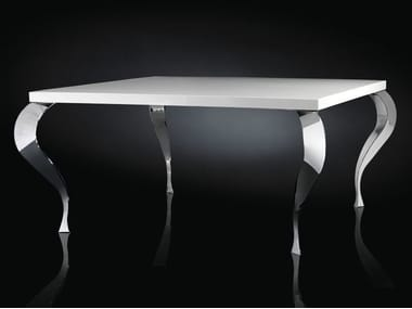Lacquered round steel living room table LUIGI | Square table