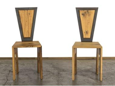 Reclaimed wood chair LUIGIA