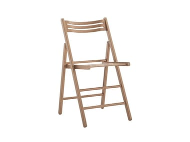 Folding beech chair LUIS 451D