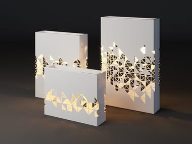 Fioriera alta luminosa in metallo LUMI MOSAIC