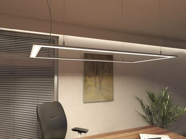 LED office aluminium pendant lamp LUMINES SOLIS | Pendant lamp